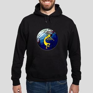 Kokopelli on the Earth #2 Hoodie (dark)