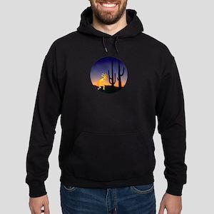 Cactus and Kokopelli Round Hoodie (dark)
