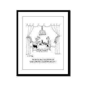 Algorithm Cartoon 7097 Framed Panel Print