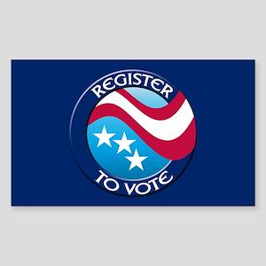 REGISTER TO VOTE Rectangle Sticker