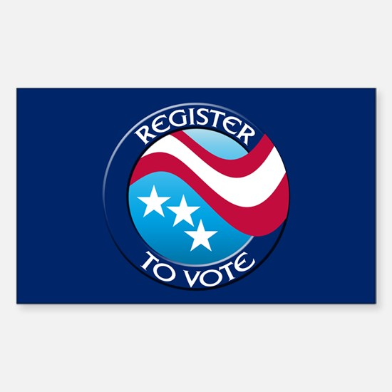 REGISTER TO VOTE Rectangle Decal