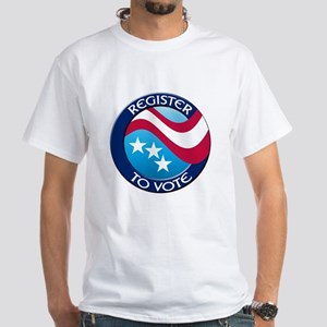 REGISTER TO VOTE White T-Shirt