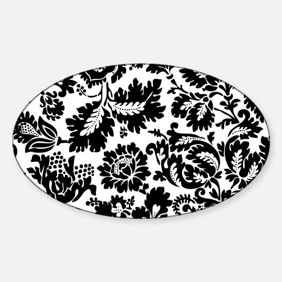 Damask Black and White Bold Floral Decal