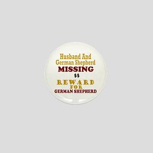 Husband & German Shepherd Missing Mini Button