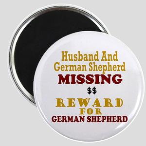 Husband & German Shepherd Missing Magnet