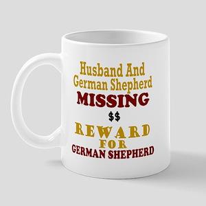 Husband & German Shepherd Missing Mug