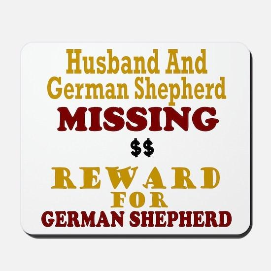 Husband & German Shepherd Missing Mousepad