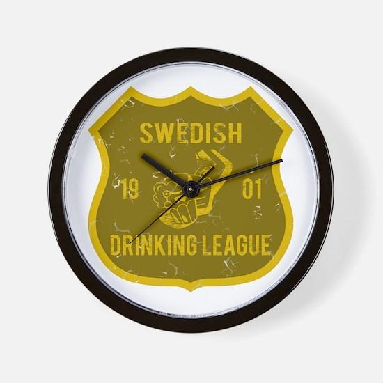 Swedish Drinking League Wall Clock