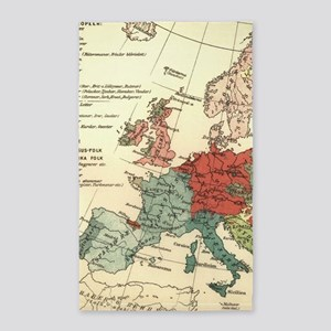 European Map Antique Vintage Area Rug