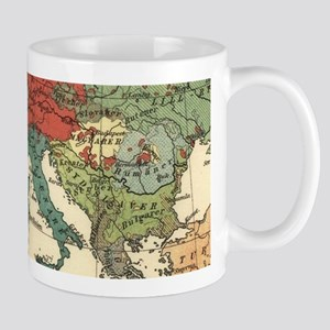 European Map Antique Vintage Mugs