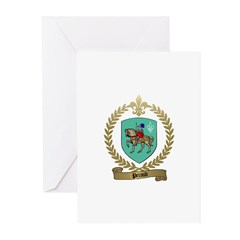 PERAUD Family Crest Greeting Cards (Pk of 10)