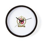 PELTRET Family Crest Wall Clock