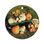 Fall Bounty Ornament (Round)