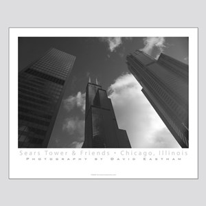 Sears Tower and Friends Poster; Black and White