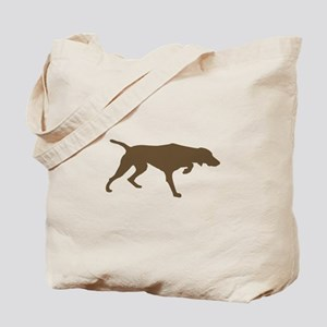 Weimaraner Silhouette Tote Bag