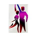 Latin Dancer #2 Rectangle Magnet