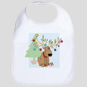 Christmas Reindeer Bib