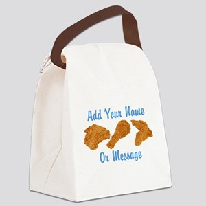 PERSONALIZED Fried Chicken Canvas Lunch Bag