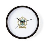 PELTIER Family Crest Wall Clock