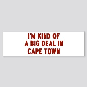 Big Deal in Cape Town Bumper Sticker