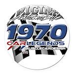 1970 carlegends Round Car Magnet