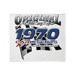 1970 carlegends Throw Blanket