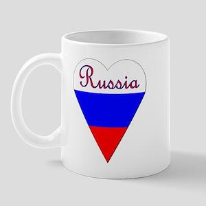 Russia Heart-Shaped Flag Mug