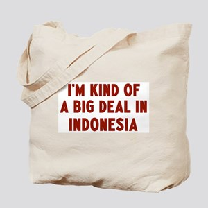 Big Deal in Indonesia Tote Bag