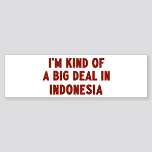 Big Deal in Indonesia Bumper Sticker