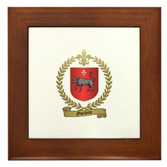 OUELLETTE Family Crest Framed Tile