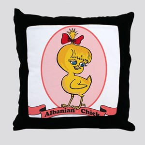 Albanian Chick Throw Pillow