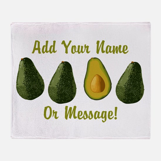 PERSONALIZED Avocados Graphic Throw Blanket