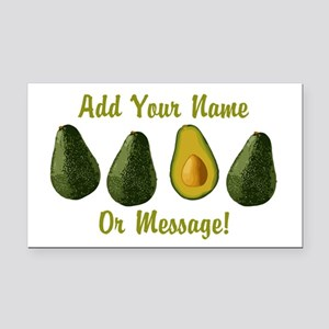 PERSONALIZED Avocados Graphic Rectangle Car Magnet