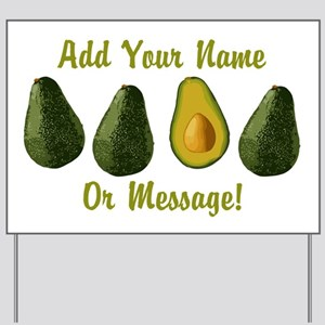 PERSONALIZED Avocados Graphic Yard Sign