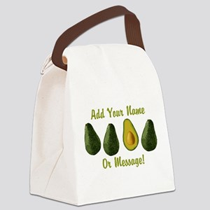 PERSONALIZED Avocados Graphic Canvas Lunch Bag