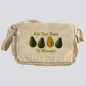 PERSONALIZED Avocados Graphic Messenger Bag
