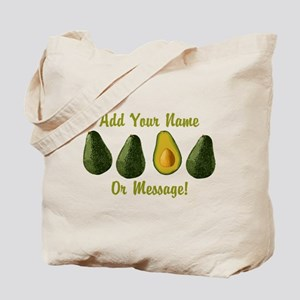 PERSONALIZED Avocados Graphic Tote Bag