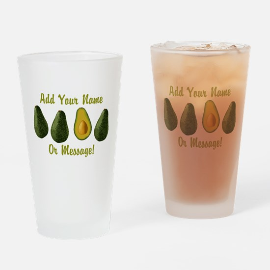 PERSONALIZED Avocados Graphic Drinking Glass