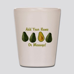 PERSONALIZED Avocados Graphic Shot Glass