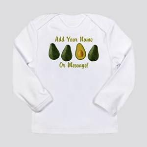 PERSONALIZED Avocados Graphic Long Sleeve T-Shirt