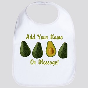 PERSONALIZED Avocados Graphic Baby Bib