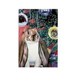 Susie Rabbit's Christmas Rectangle Magnet (10 pack