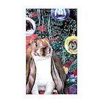 Susie Rabbit's Christmas Rectangle Sticker