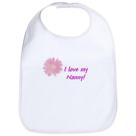 I LOVE MY NANNY Pink Bib