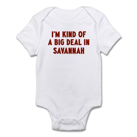 Big Deal in Savannah Infant Bodysuit Baby Light Bodysuit