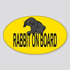 Rabbit on board Oval Sticker