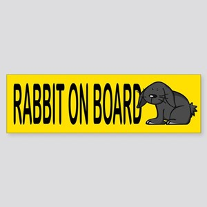 Rabbit on board Bumper Sticker