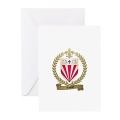 NAQUIN Family Crest Greeting Cards (Pk of 10)