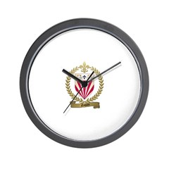 NAQUIN Family Crest Wall Clock