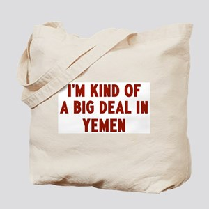 Big Deal in Yemen Tote Bag